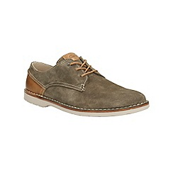 Clarks - Hinton Fly Khaki Suede Casual Lace Up Shoe