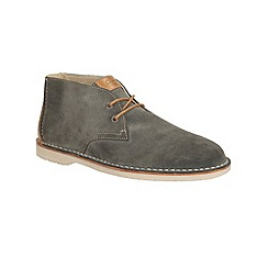 Clarks - Hinton Rise Denim Blue Suede Casual Lace Up Ankle Boot