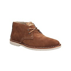 Clarks - Hinton Rise Tobacco Suede Casual Lace Up Ankle Boot