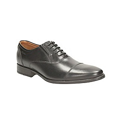 Clarks - Kalden Cap Black Leather Smart Lace up Shoe