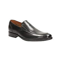 Clarks - Kalden Step Black Leather Smart Slip on Shoe