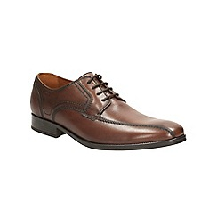 Clarks - Kalden Vibe Brown Leather Smart Lace Up Shoe