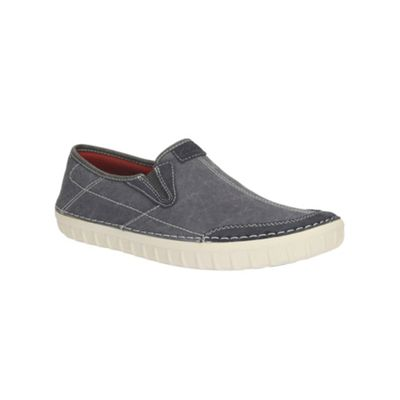 Clarks Kornel Ride Blue Canvas Casual Slip on Shoe - . -