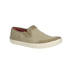 Clarks - Kornel Ride Olive Canvas Casual Slip on Shoe
