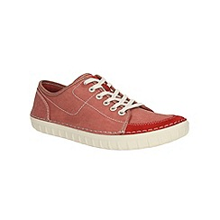 Clarks - Kornel Row Red Canvas Shoe