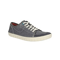 Clarks - Kornel Row Blue Canvas Shoe