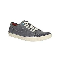 Clarks - Kornel Row Blue Canvas Shoe