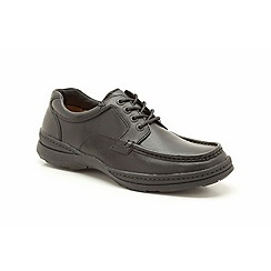 Clarks - Big and tall line day black leather casual lace up shoe