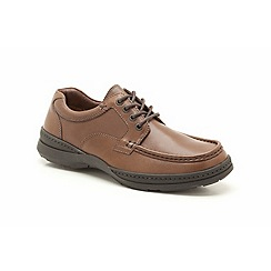 Clarks - Line Day Walnut Leather Casual Lace Up Shoe