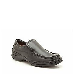 Clarks - Line Free Black Leather Slip On Shoe