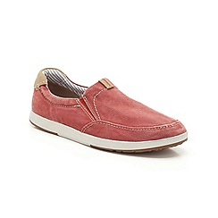 Clarks - Norwin Easy Red Canvas Casual Slip on Shoe
