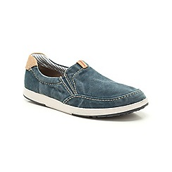 Clarks - Norwin Easy Navy Canvas Casual Slip on Shoe