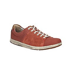 Clarks - Norwin Style Red Canvas Shoe