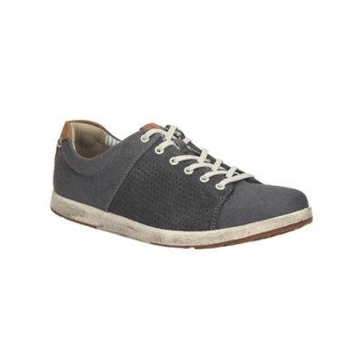 Clarks Norwin Style Navy Canvas Shoe - . -