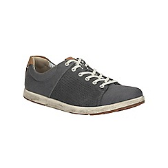 Clarks - Norwin Style Navy Canvas Shoe