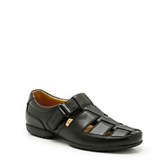 Clarks - Recline open black leather sandals
