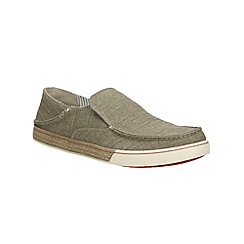 Clarks - Slaten Free Olive Canvas Casual Slip on Shoe