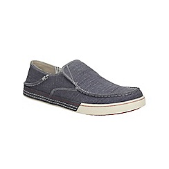Clarks - Slaten Free Denim Canvas Casual Slip on Shoe