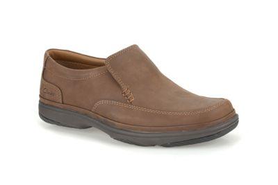 Clarks Swift Step Tan Nubuck Casual Slip on Shoe - . -