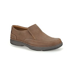 Clarks - Swift Step Tan Nubuck Casual Slip on Shoe