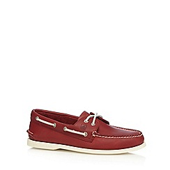 Sperry - Red leather boat shoes