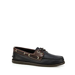 Sperry - Dark brown leather boat shoes