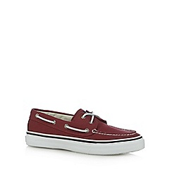Sperry - Red canvas boat shoes