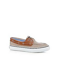 Sperry - Taupe chambray boat shoes