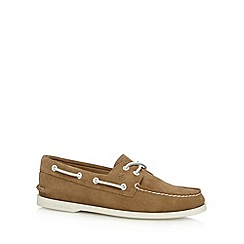 Sperry - Tan suede boat shoes