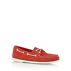 Sperry - Red suede boat shoes