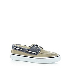 Sperry - Beige two tone boat shoes