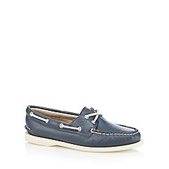 Sperry - Navy leather boat shoes