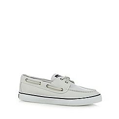 Sperry - White canvas boat shoes
