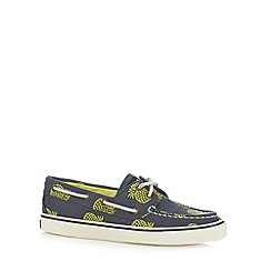 Sperry - Navy pineapple print boat shoes