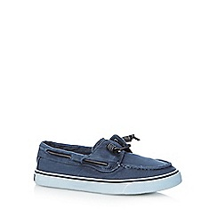 Sperry - Navy worn wash boat shoes