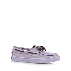 Sperry - Lilac wash and worn canvas boat shoes