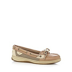 Sperry - Taupe leather boat shoes