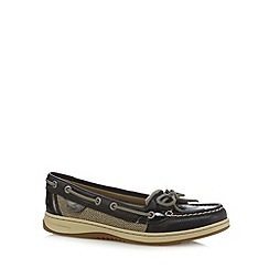 Sperry - Black leather boat shoes