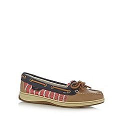 Sperry - Navy leather mesh boat shoes