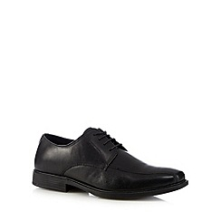 Red Tape - Black leather tramline stitch shoes
