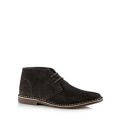Red Tape - Dark grey leather desert boots