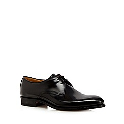 Loake - Designer black leather cap toe shoes