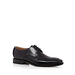 Loake - Black stitched apron leather shoes
