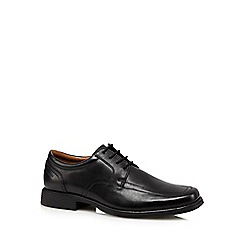 Clarks - Black 'Huckley Spring' leather shoes