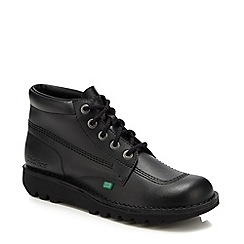 Kickers - Black leather lace up chukka boots