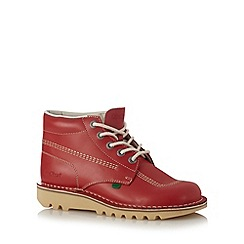 Kickers - Red leather contract stitch chukka boot