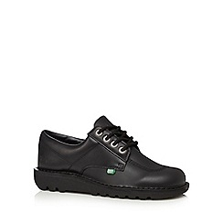 Kickers - Black leather support lace up shoes