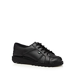 Kickers - Black coated leather lace up shoes