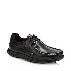 Kickers - Black leather 'Reason' lace up shoes