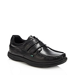 Kickers - Black 'Reason' leather rip tape shoes